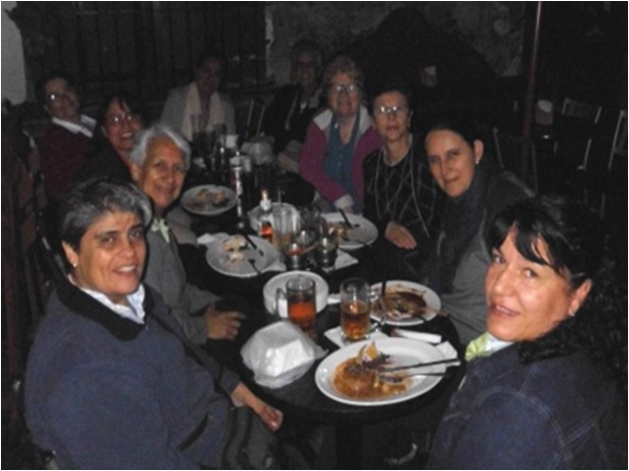 Encuentro en México, compartir